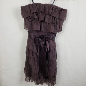 J Crew Silk Plum Tiered Ruffle Dress - NWT!!!
